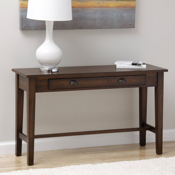 Cooper deep chocolate console table 15277495 overstock for 10 deep console table