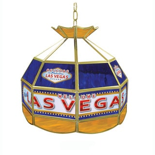 Hand-made Las Vegas Stained Glass Tiffany Style Lamp