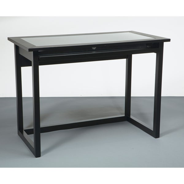 Meridian Tempered Glass Top Computer Desk