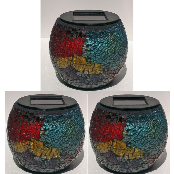 Paradise Solar Powered Mosaic Jars (Pack of 3)
