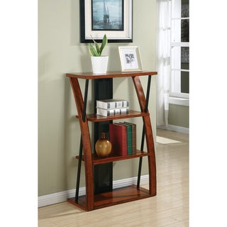 Aurora Medium Oak Finish 3-shelf Bookcase