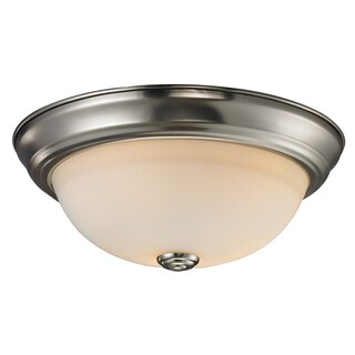 Athena 1-light Matte Opal Glass Dome Flush-mount Light