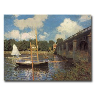 Claude Monet 'Bridge at Argenteuil II' Canvas Art