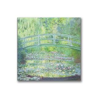 Claude Monet 'Waterlily Pond-The Bridge II' Canvas Art