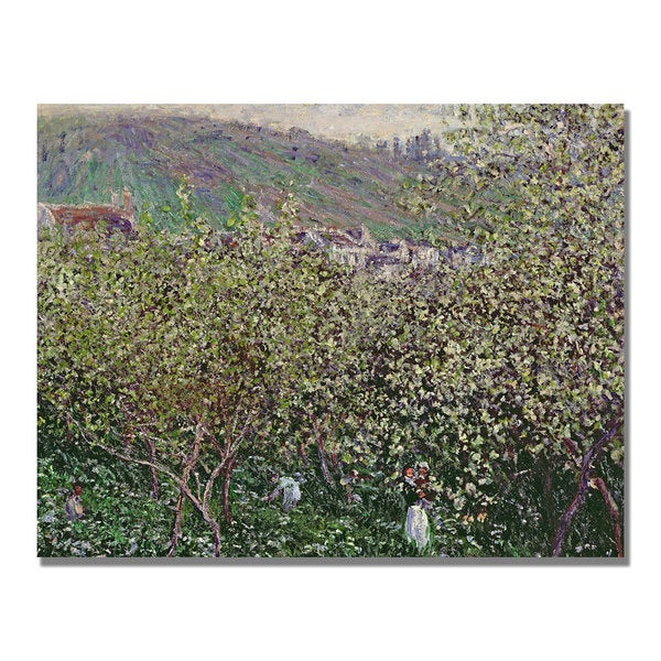 Claude Monet 'Fruit Pickers' Canvas Art