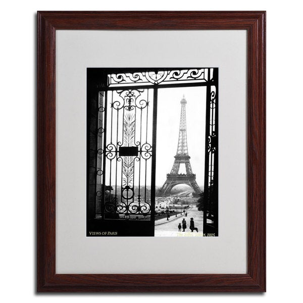 Sally Gall 'Views of Paris' Framed Matted Art