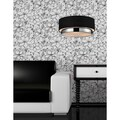 Jade Chrome 3-light Black Drum Shade Pendant