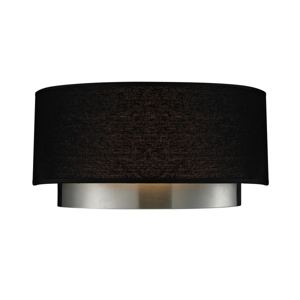 Wall Sconces With Black Shades : Jade Chrome 2-light Black Shade Wall Sconce - 15277723 - Overstock.com Shopping - Great Deals on ...