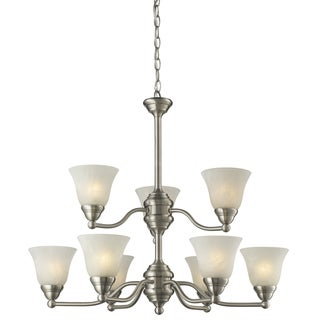 Athena Brushed Nickel 9-light Chandelier