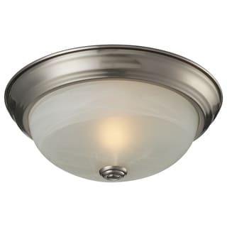 Athena 1-light Brushed Nickel Flush Mount