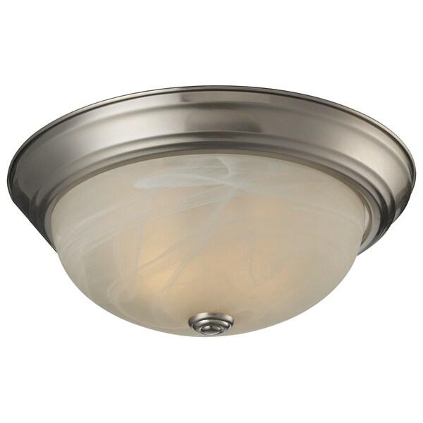 Athena 2-light Brushed Nickel Flush Mount