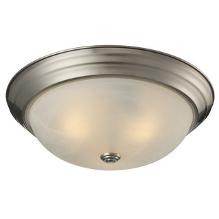 Athena 3-light Brushed Nickel Flush Mount
