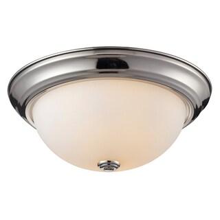 Athena Chrome 2-light Flush Mount