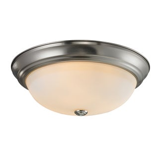 Athena Chrome 3-light Flush Mount