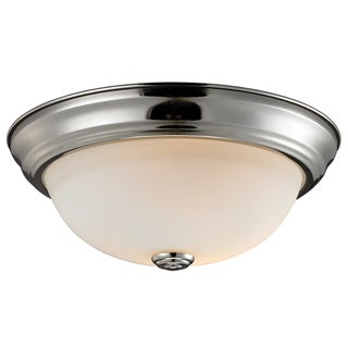 Athena 2-light Matte Opal Glass Dome Flush-mount Light