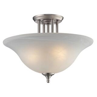 Athena 3-light White Mottle Shade Light