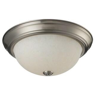 Athena 2-light Mottle Glass Flush Mount