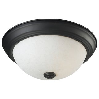 Athena Bronze One-Light Ceiling Fixture with Line Switch