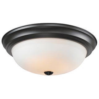 Athena Matte Black 3-light Ceiling Fixture