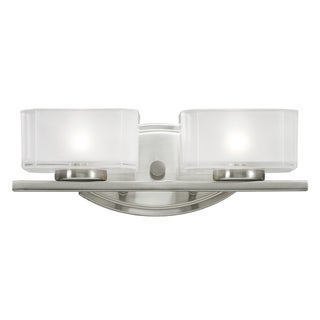 Cabro Brushed Nickel 2-light Vanity Light