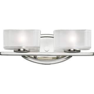 Cabro Chrome 2-light Vanity Light