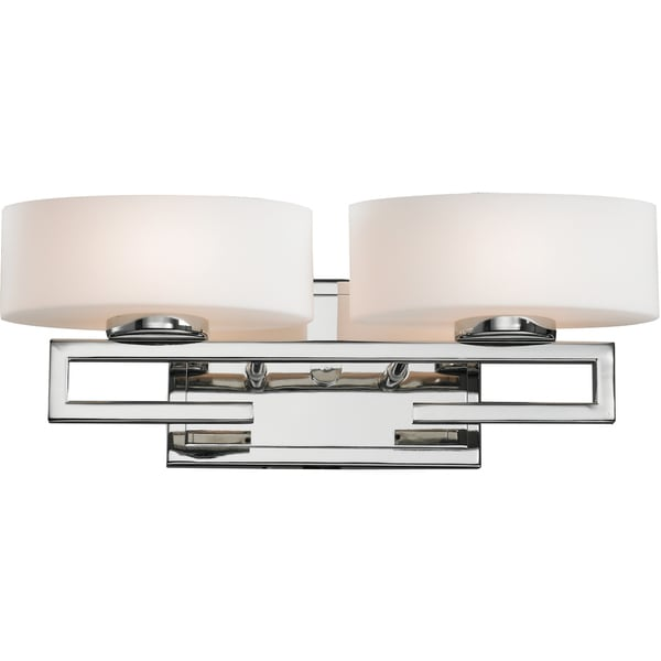 Cetynia Chrome 2-Light Rail Vanity Fixture