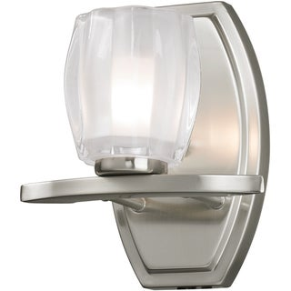Haan Brushed Nickel 1-Light Opal Glass Vanity Fixture