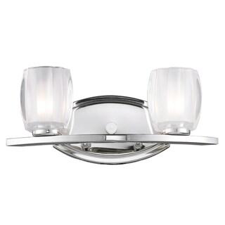 Haan Chrome 2-light Vanity Fixture