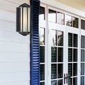 Cylex Black 1-light Outdoor Wall Fixture