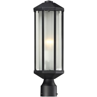 Cylex Black 1-light Outdoor Post Fixture