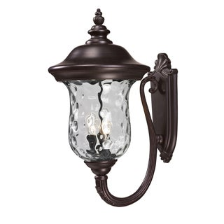 Armstrong Rubbed Bronze 3-light Outdoor Wall Fixture