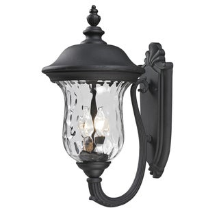 Armstrong Black 2-light Outdoor Wall Fixture