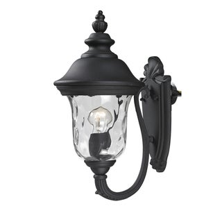 Armstrong Two-light Black Outdoor Wall Light with Line Switch