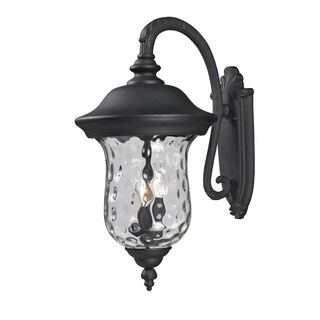 Armstrong 3-light Black Outdoor Wall Mount Light