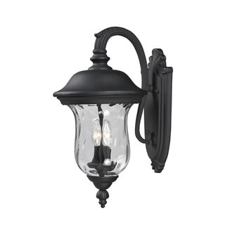 Armstrong 2-light Black Outdoor Wall Light