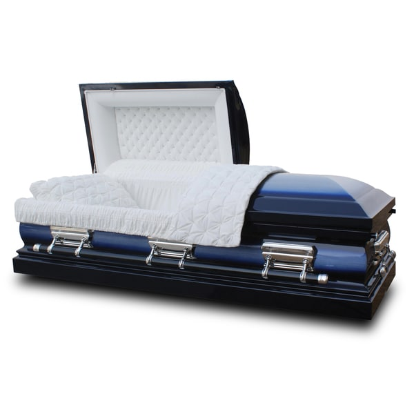 Star Legacy's Midnight Blue Deluxe 18-gauge Steel Casket