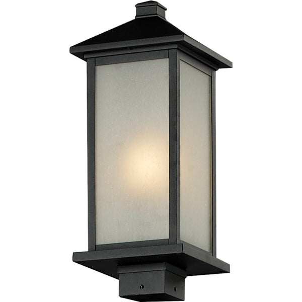 Vienna Black Outdoor 1-light Post Light Head