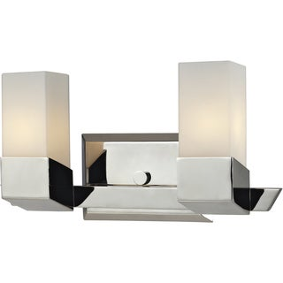 Zen Chrome 2-Light Geometric Vanity Fixture