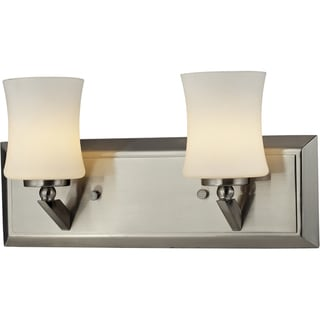 Elite Brushed Nickel Two-Light Vanity Fixture