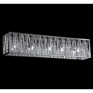 Terra Chrome Five-Light Vanity Fixture - Overstock Shopping - Top Rated Z-Lite Sconces & Vanities