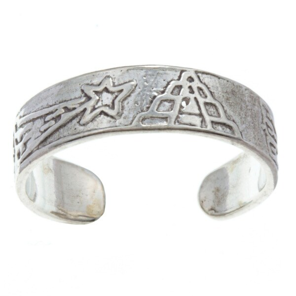 Sterling Silver Shooting Stars Adjustable Toe Ring