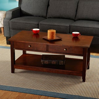 Simple Living Bradford Chestnut Finish Coffee Table