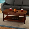 Bradford Chestnut Finish Coffee Table