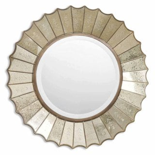 Uttermost 'Amberlyn' Sunburst Gold Mirror