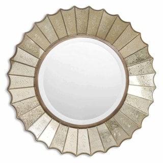 Uttermost 'Amberlyn' Sunburst Gold Mirror