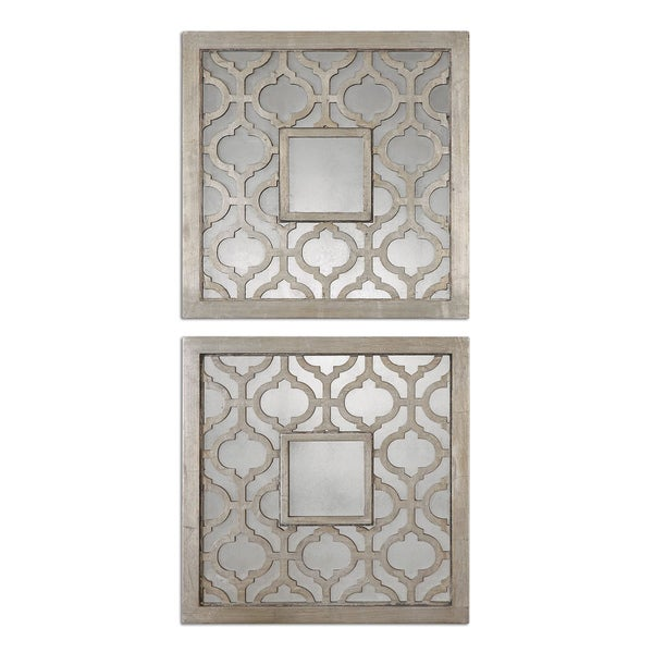 Uttermost sorbolo squares decorative mirror set of 2 15277863 shopping - Home decor wall mirrors collection ...