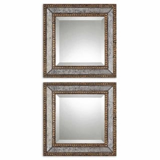 Uttermost 'Norlina Squares' Antique Mirror (Set of 2)