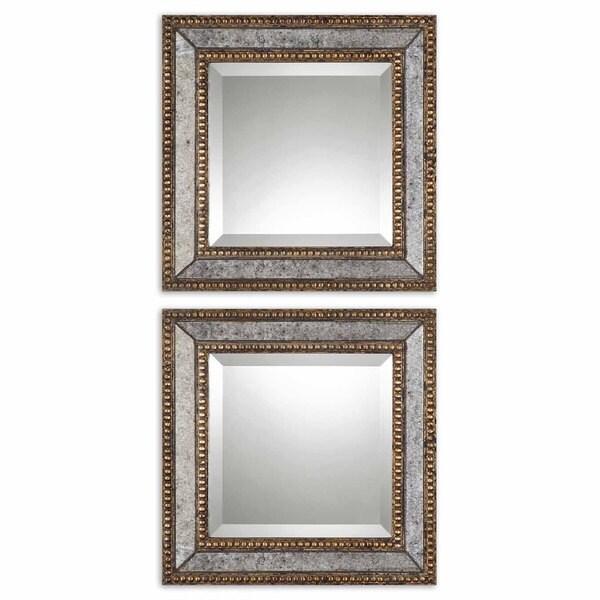 Uttermost Norlina Squares Antique Mirror Set Of 2