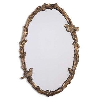 Uttermost 'Paza' Oval Vine Gold Mirror - 22x33.75x3