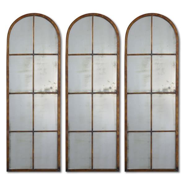 Uttermost 'Amiel' Arched Brown Mirror